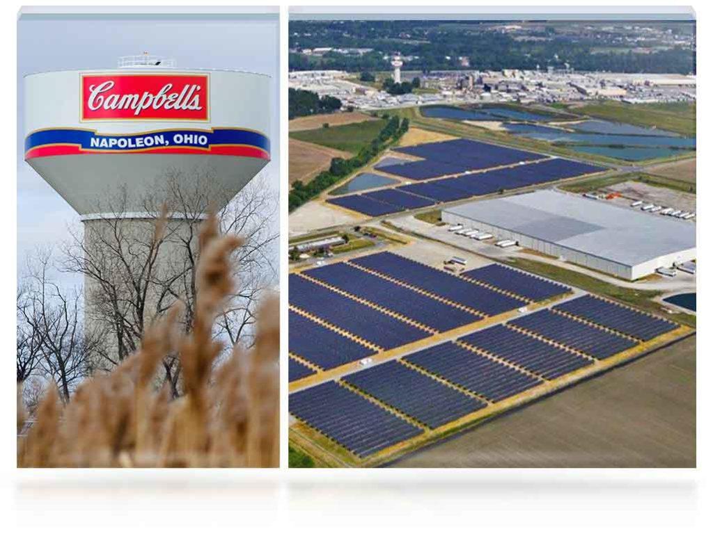 Solar Panels at our Napoleon, Ohio plant